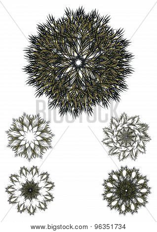 Decorative flower pattern motif