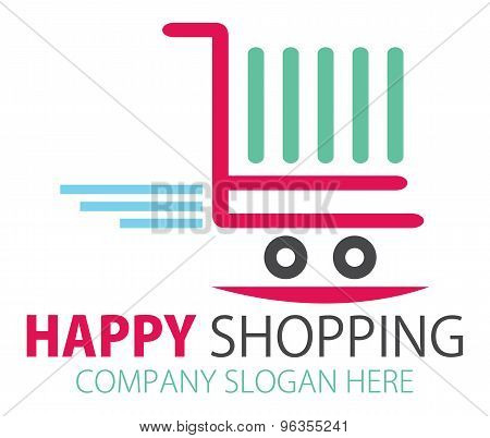 Shopping station Logo Design or Online purchase logo