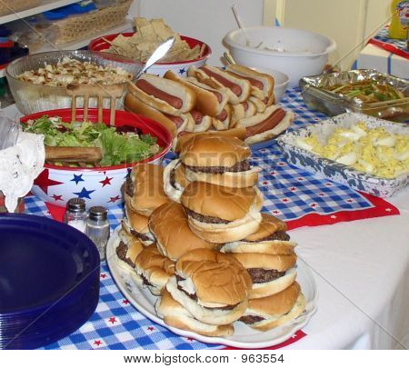 Summer Cookout Food
