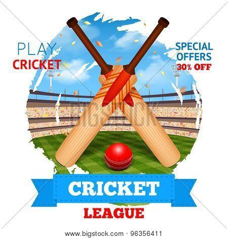 Cricket Stadium Illustration