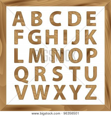 Wooden Alphabet, 2d set with all Letters