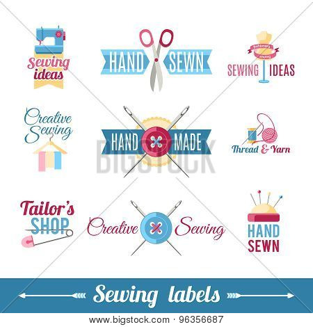 Sewing labels pictograms  collection