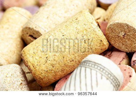 Wine corks close-up. Shallow DOF!
