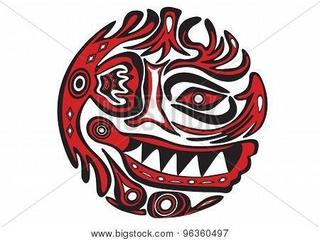 Decorative floral face design and motif