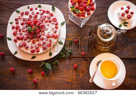 Vegetarian Desserts And Herbal Tea