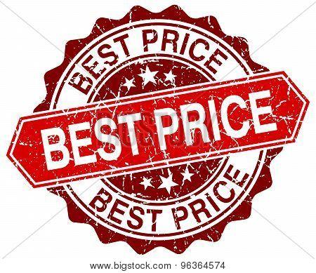 Best Price Red Round Grunge Stamp On White