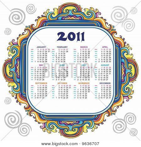 Floral calendar for 2011.