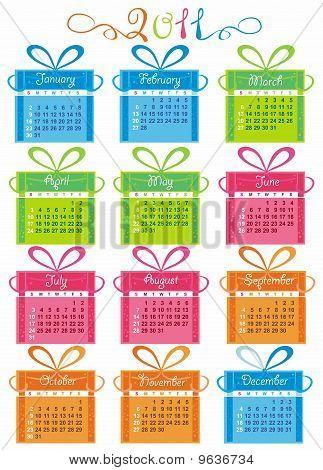 2011 colorful calendar