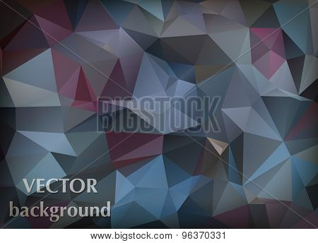 Abstract Vector Background Of Triangles Polygon Wallpaper