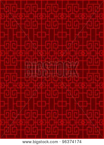 Seamless Chinese window tracery square diamond pattern background.