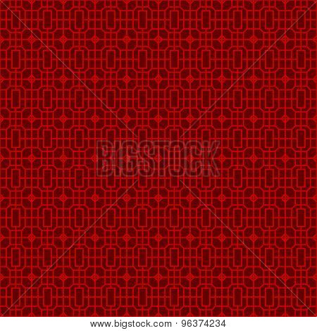 Seamless Chinese window tracery square geometry line pattern background.
