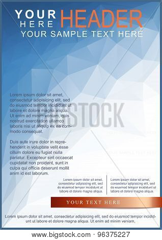 Blue Brochure Or Flyer Template