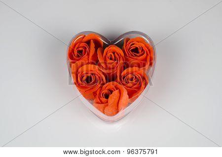 Rose Petals In Heart