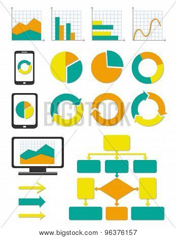 Business Chart And Info Graph Icons Set