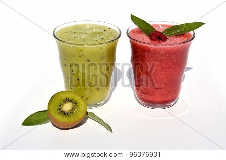 Kiwi And Raspberry Juice