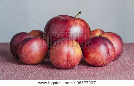 Red Apple And Peach