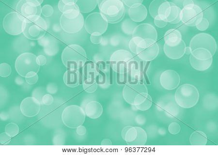 green circle shape boke background