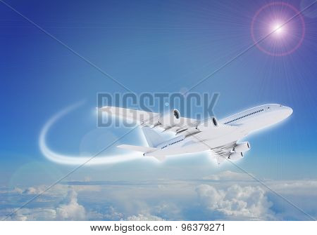 Jet flying in sky