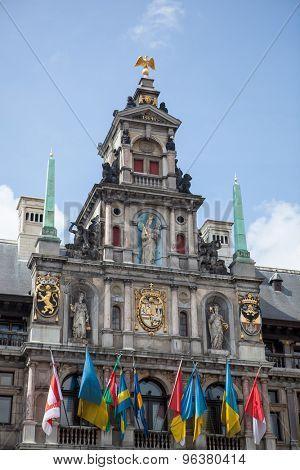 Houses on Grote Markt (Big Market Square) in the Antwepen, Belgium