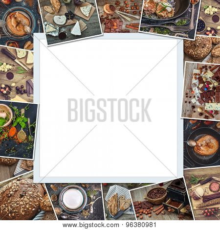 frame from retro style food photos