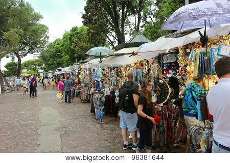 Vendors In Venice Italy