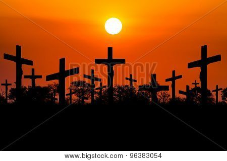 Sunset Crucifixion