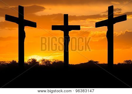 Jesus and crosses