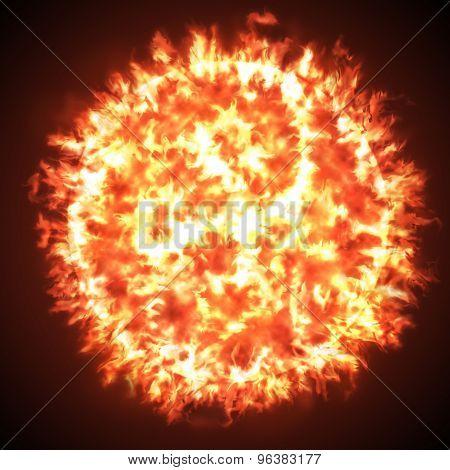 Sun fireball