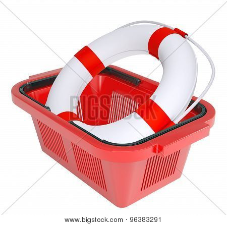 Lifebuoy in shopping basket
