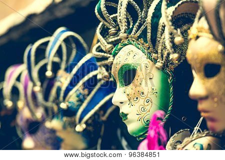 amazing carnival masks for traditional Venetian carnival fest