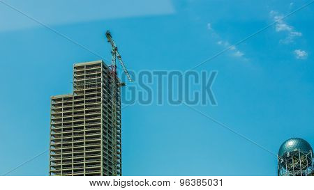 Tower Crane and Unfinished Building
