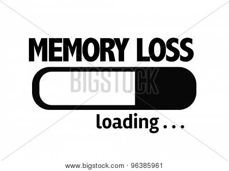 Progress Bar Loading with the text: Memory Loss