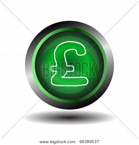Pound sign vector. Pound circle web glossy icon button vector