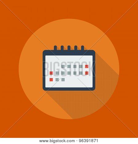Education Flat Icon. Calendar