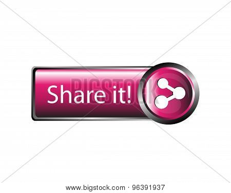 Share it icon - Share icon button sign vector