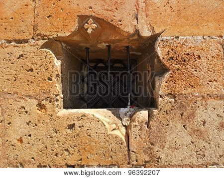 Castle Wall With Window Bars