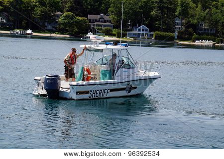 Sheriff's Boat on Patrol