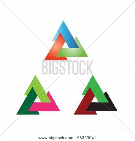 Triangle sign vector creative icon design template