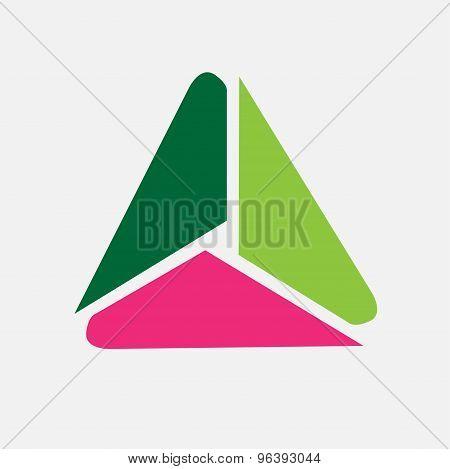 Triangle symbol icon vector. Triangle sign vector creative icon