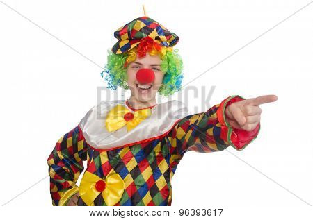 Clown isolated on the white background
