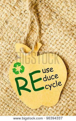 Recycle Sign And Reduce, Reuse, Recycle.