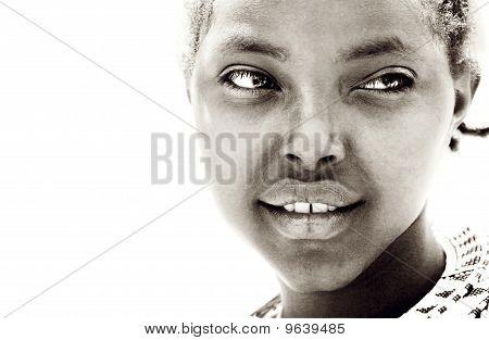 Retrato de menina africana