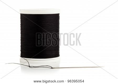 Sewing Needle And Thread Spool Macro