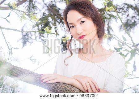 Charming Asian woman