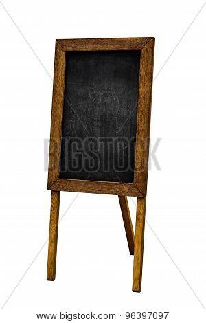 Empty Restoraunt Menu Chalkboard Isolated On White Background