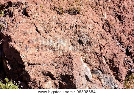 Dry Lava Basaltic Rock
