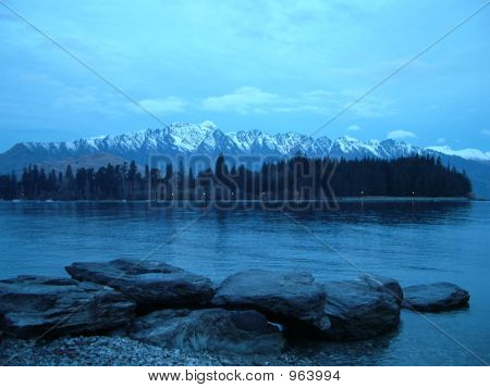 Lake At Dusk: Queenstown