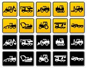 image of bulldozer  - Transportation silhouettes collection icons design element vector illustration - JPG