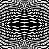 stock photo of distortion  - Design monochrome movement illusion background - JPG
