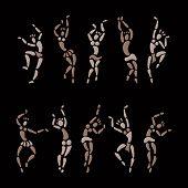 stock photo of primitive  - Figures of African dancers - JPG